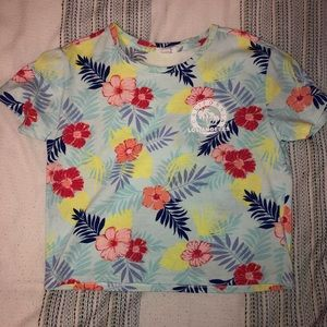 Tropical cropped T-shirt